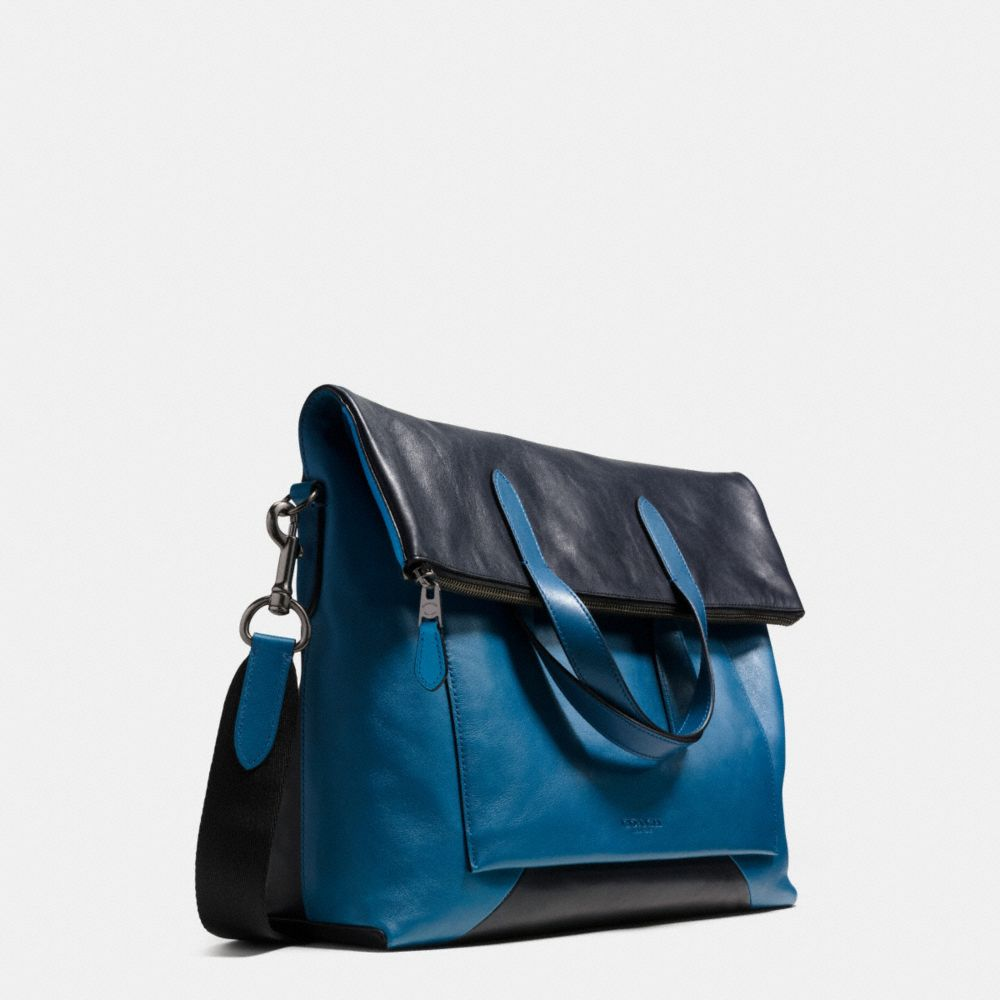 Manhattan Foldover Tote in Patchwork Sport Calf Leather - Autres affichages A2