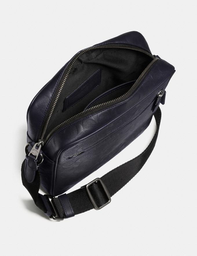 Coach Metropolitan Flight Bag Black/Black Antique Nickel  Alternate View 2