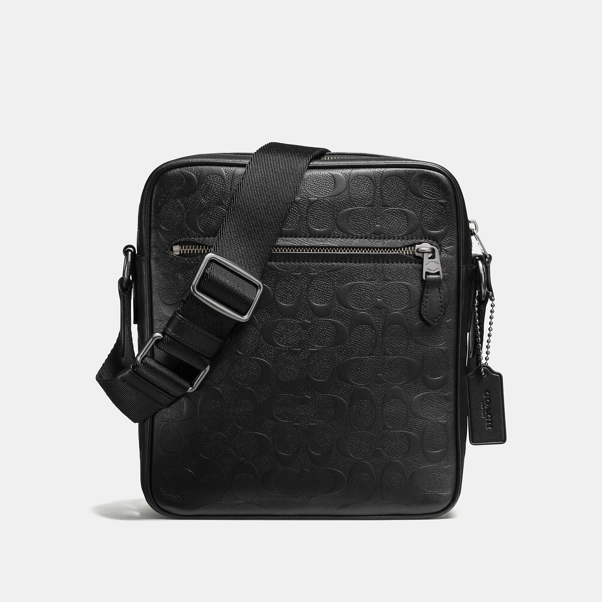 Coach Flight Bag In Signature Crossgrain Leather