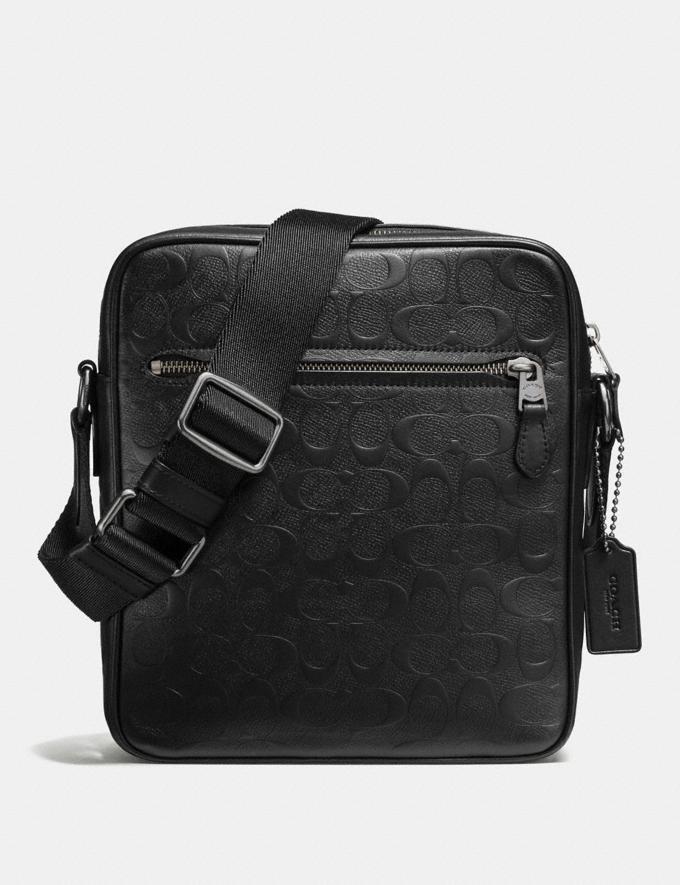 Coach Metropolitan Flight Bag Black/Black Antique Nickel