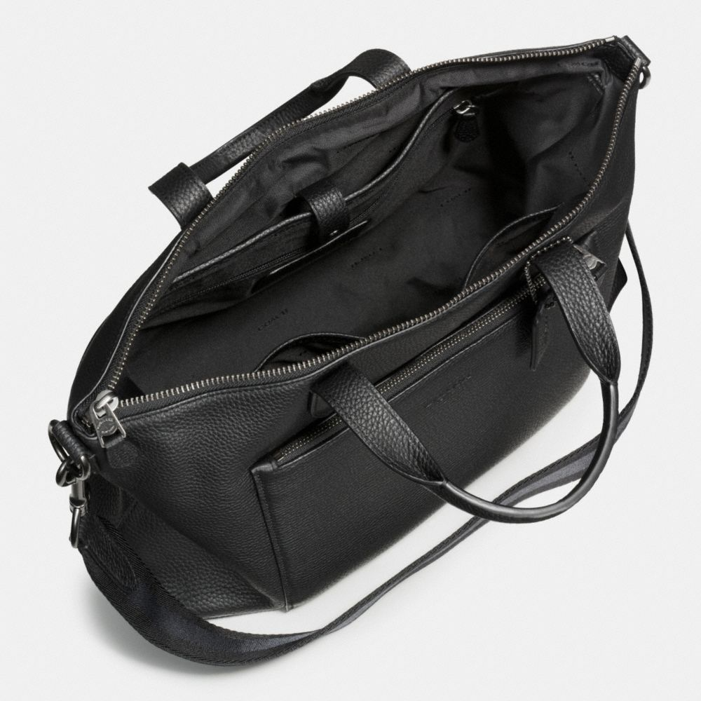 Manhattan Brief in Pebble Leather - Alternate View A3