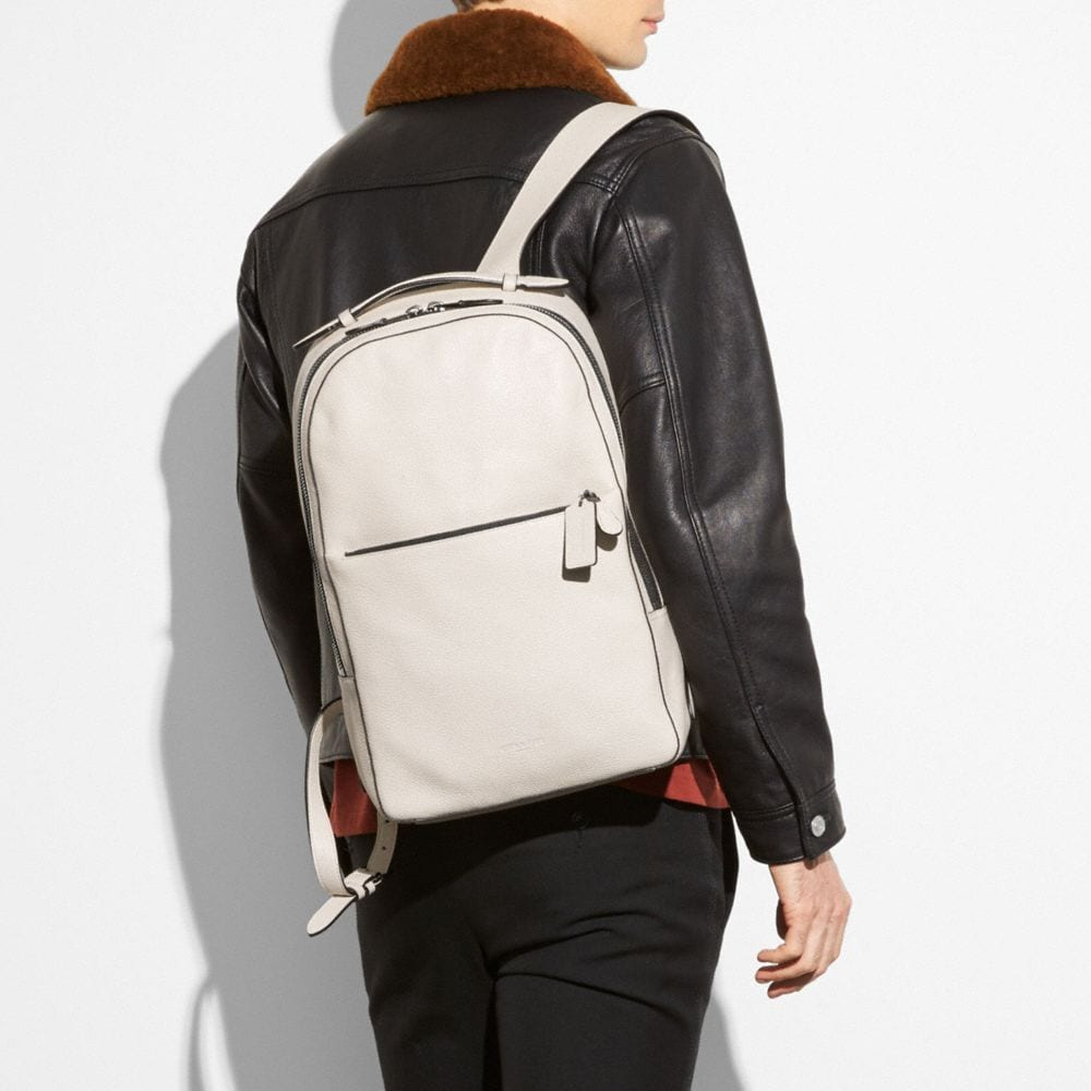 METROPOLITAN SOFT BACKPACK IN REFINED PEBBLE LEATHER - Alternate View A4