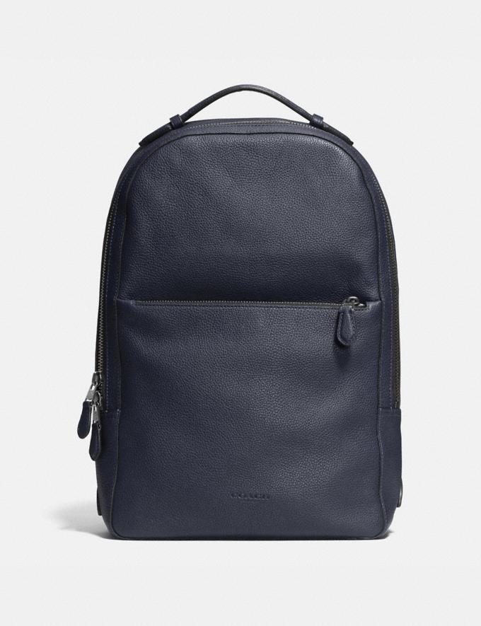 Coach Metropolitan Soft Backpack Midnight Navy/Black/Black Antique Nickel Men Bags Backpacks