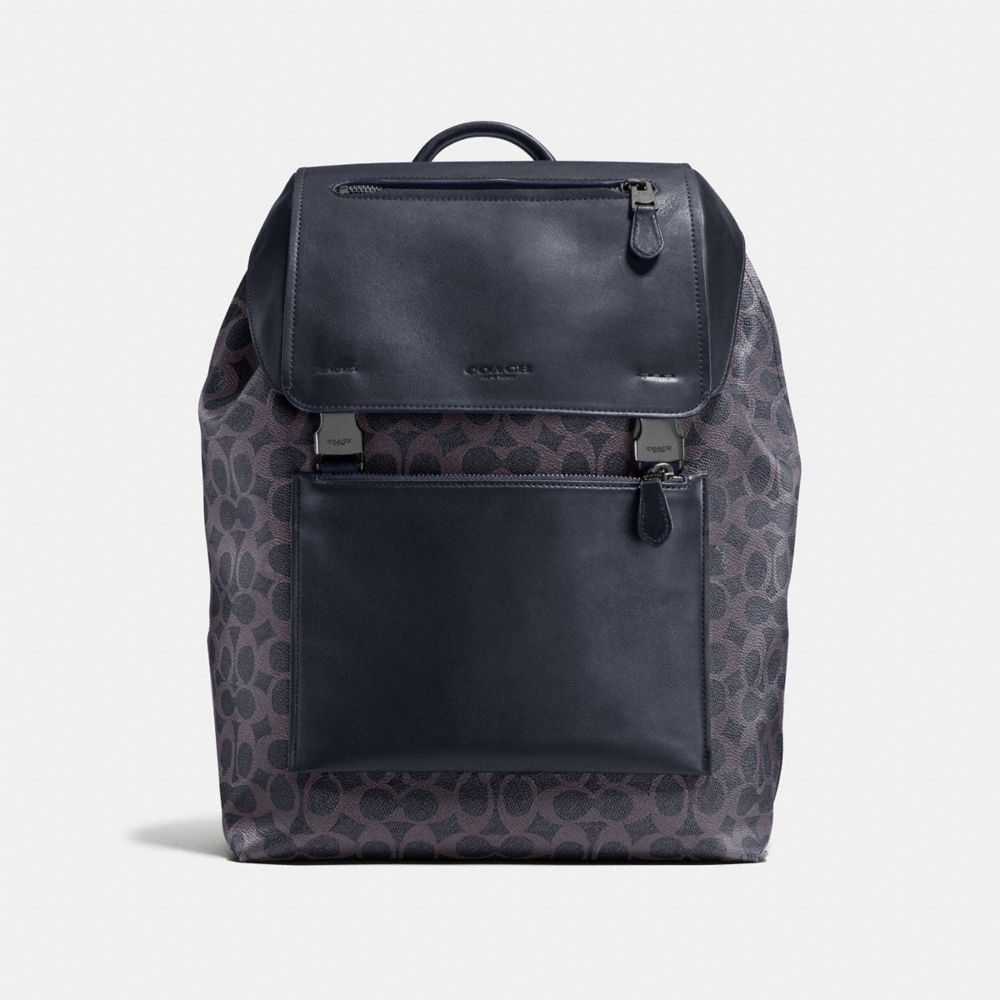MANHATTAN BACKPACK IN SIGNATURE COATED CANVAS