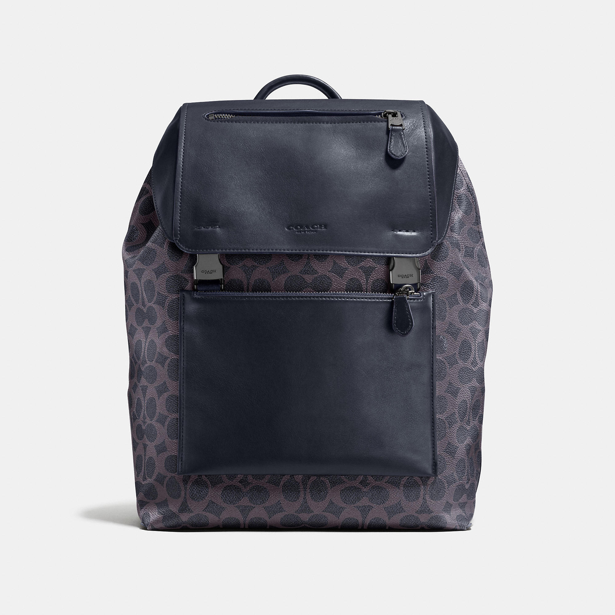 Coach Manhattan Backpack In Signature Coated Canvas