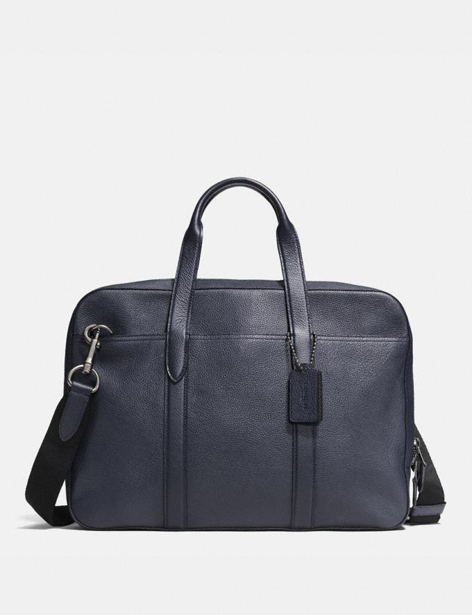 Coach Metropolitan Soft Brief Black Antique Nickel/Midnight N Personalise Personalise It Monogram For Him