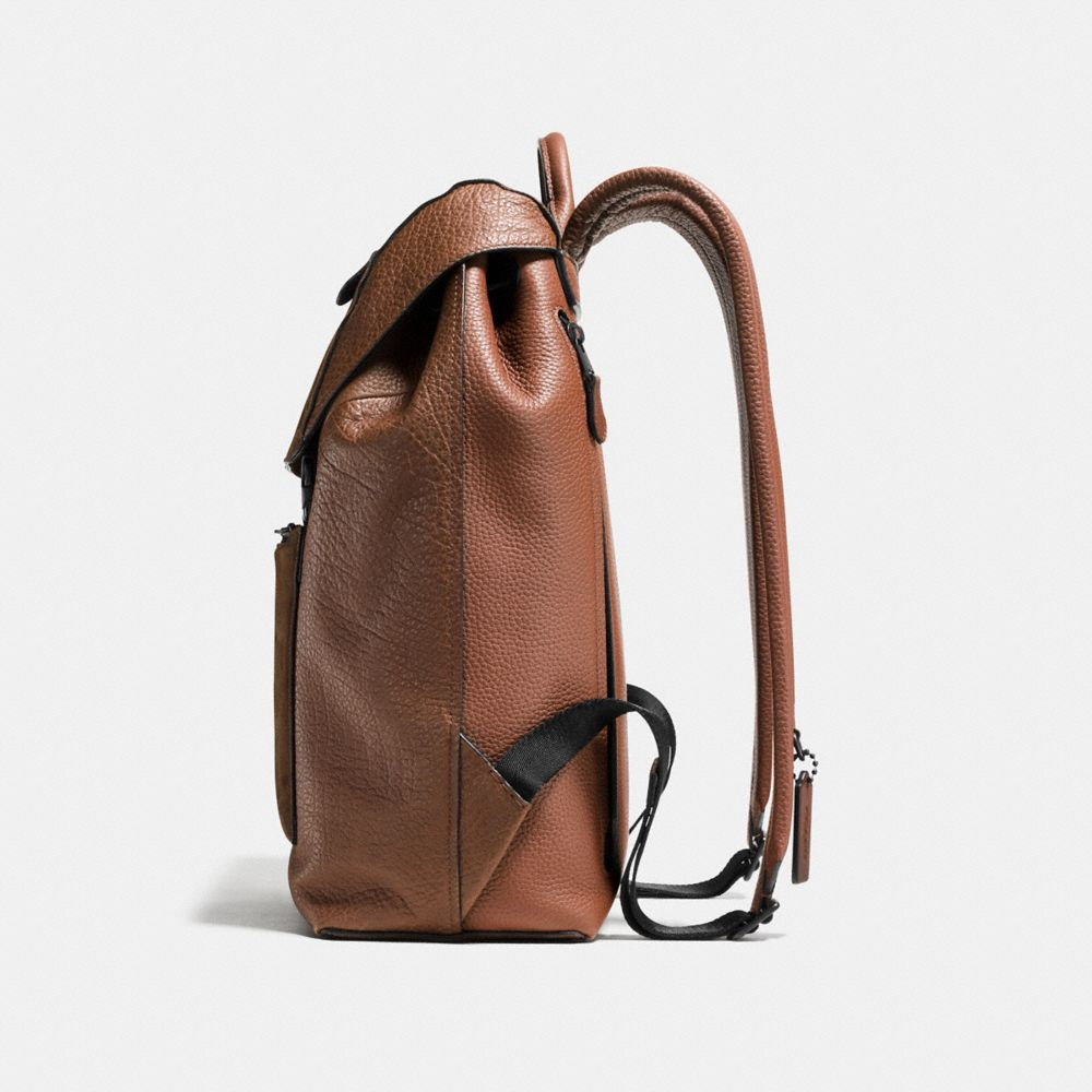 Manhattan Backpack in Patchwork Leather - Autres affichages A1