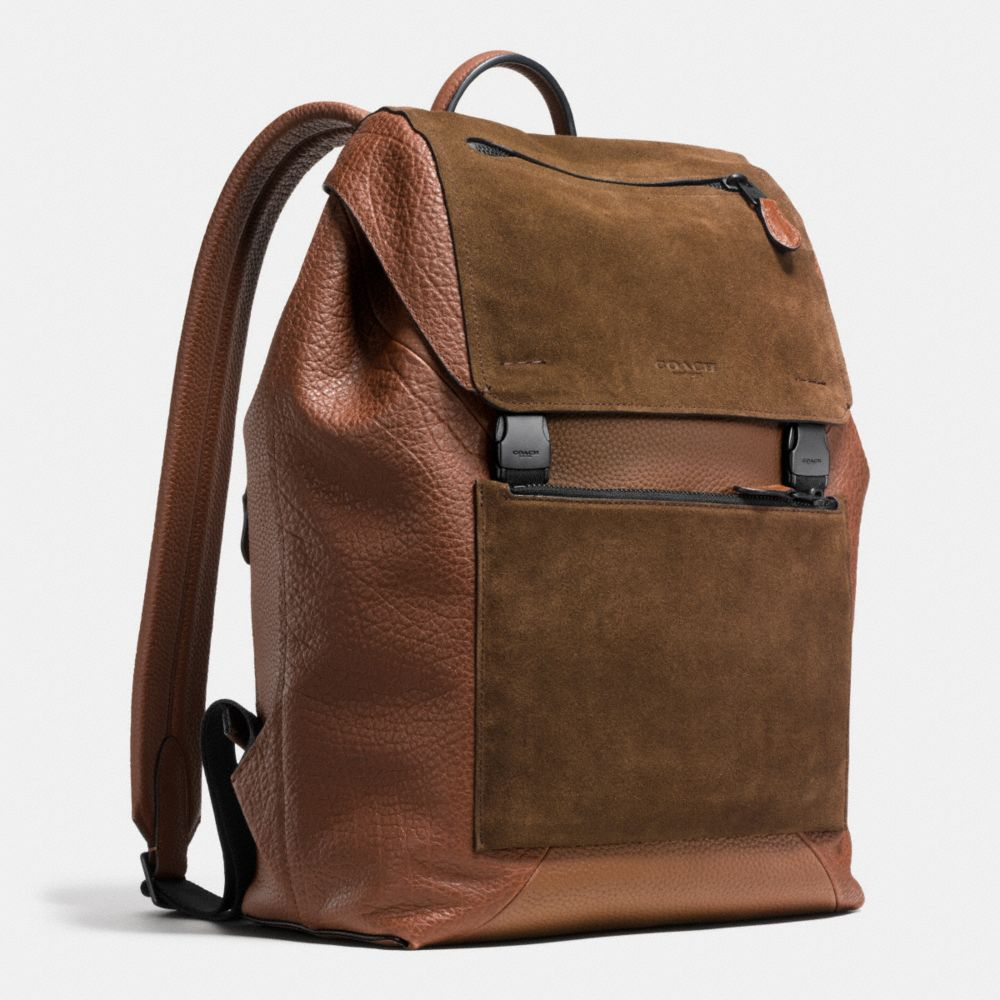 MANHATTAN BACKPACK IN PATCHWORK LEATHER - Autres affichages A2