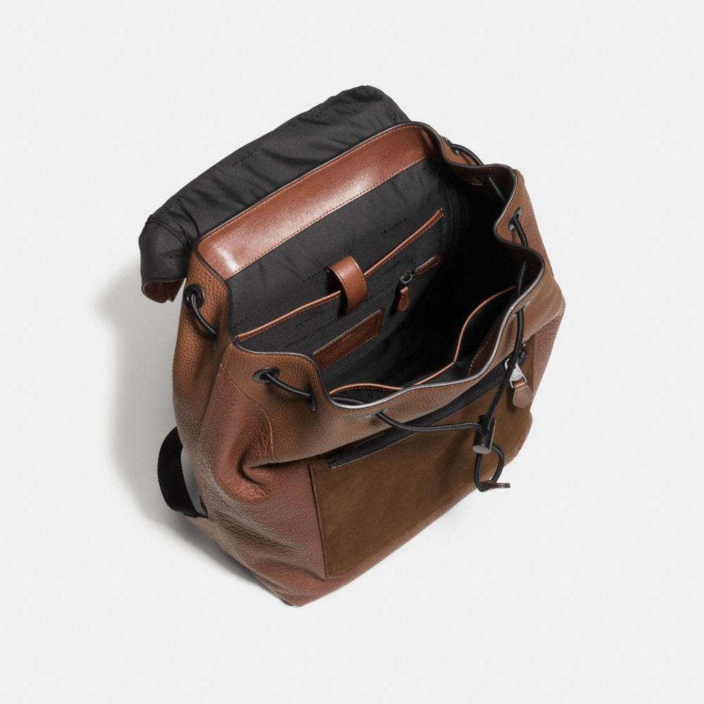 MANHATTAN BACKPACK IN PATCHWORK LEATHER - Alternate View A3