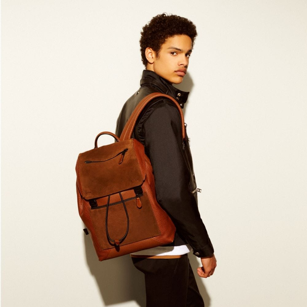 Manhattan Backpack in Patchwork Leather - Autres affichages A4