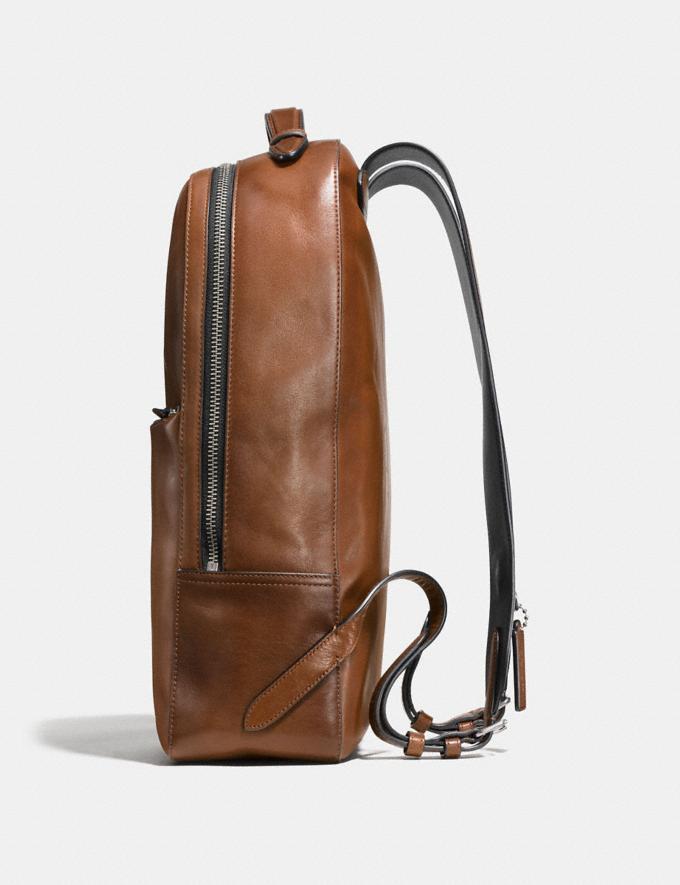 Coach Metropolitan Soft Backpack Dark Saddle/Black/Black Antique Nickel  Alternate View 1