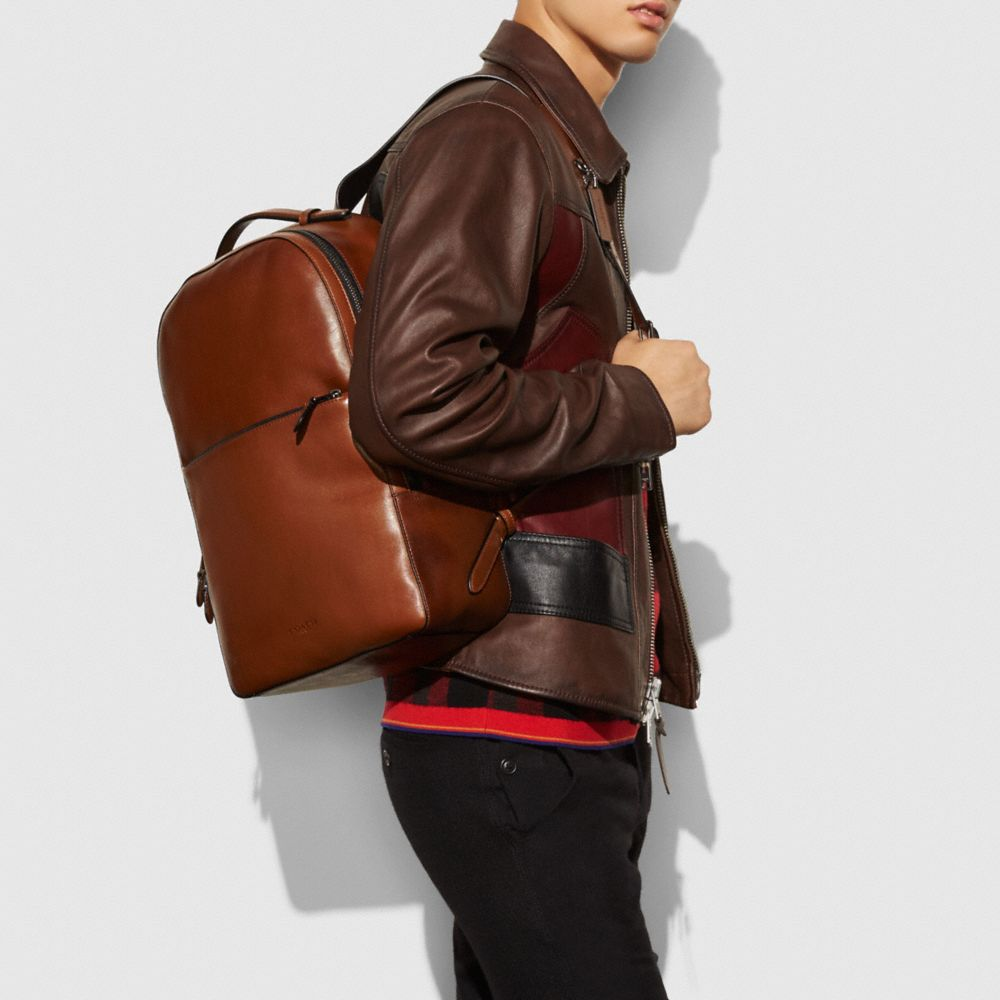 Metropolitan Soft Backpack in Sport Calf Leather - Alternate View A3