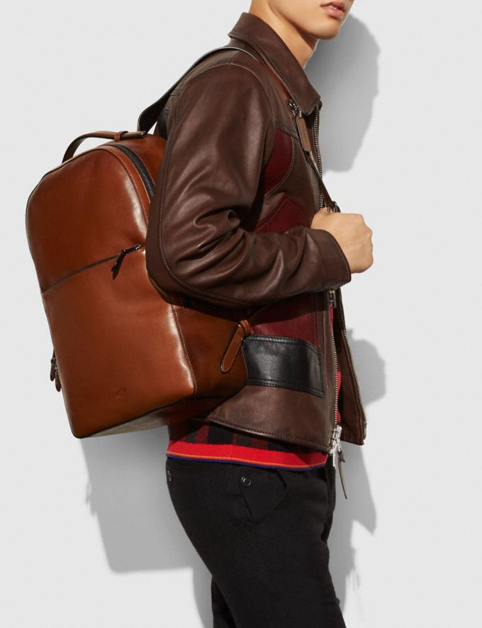 Coach Metropolitan Soft Backpack Dark Saddle/Black/Black Antique Nickel  Alternate View 3