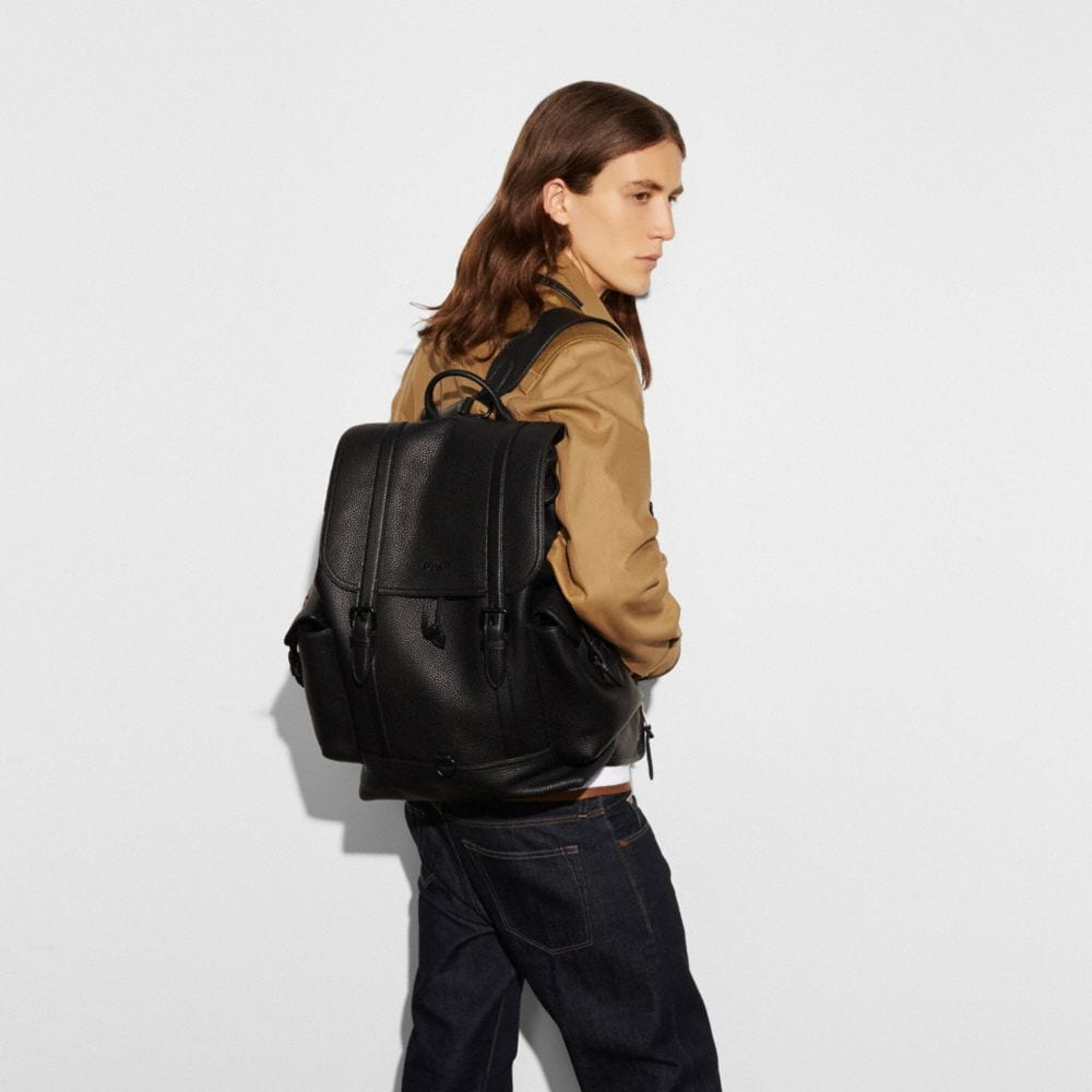 Coach Metropolitan Rucksack in Pebble Leather Alternate View 4