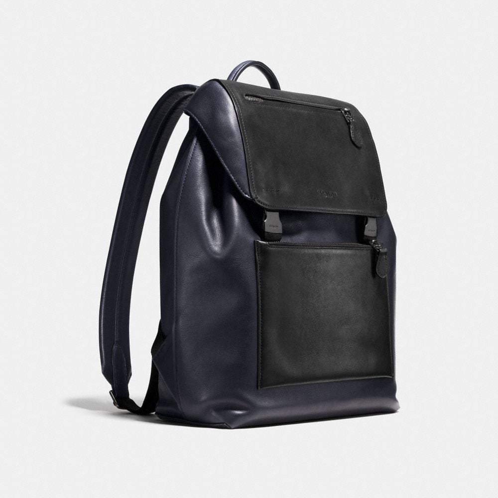 Manhattan Backpack in Sport Calf Leather - Alternate View A2
