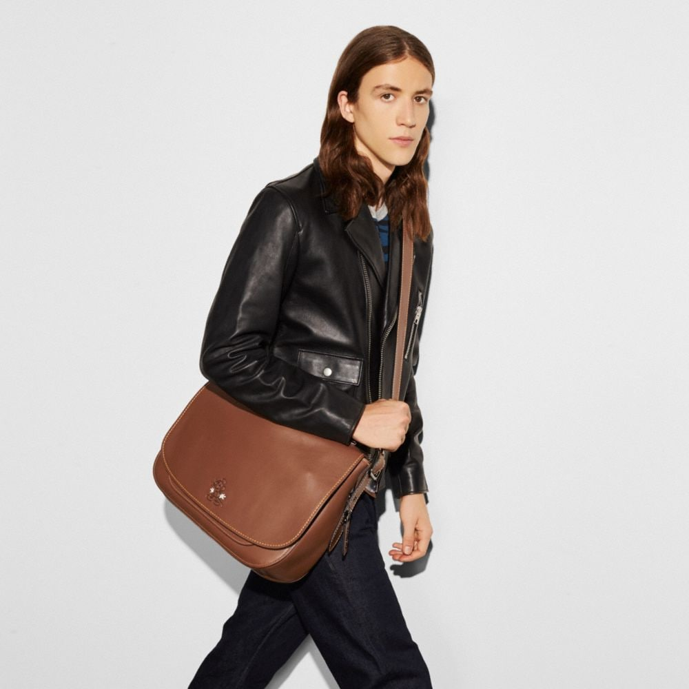 Coach Mickey Saddle Bag in Glovetanned Leather Alternate View 4