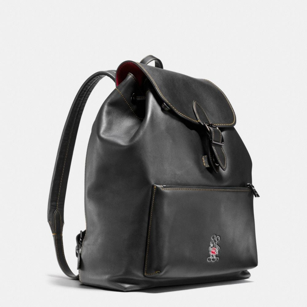 MICKEY RAINGER BACKPACK IN GLOVETANNED LEATHER - Autres affichages A3