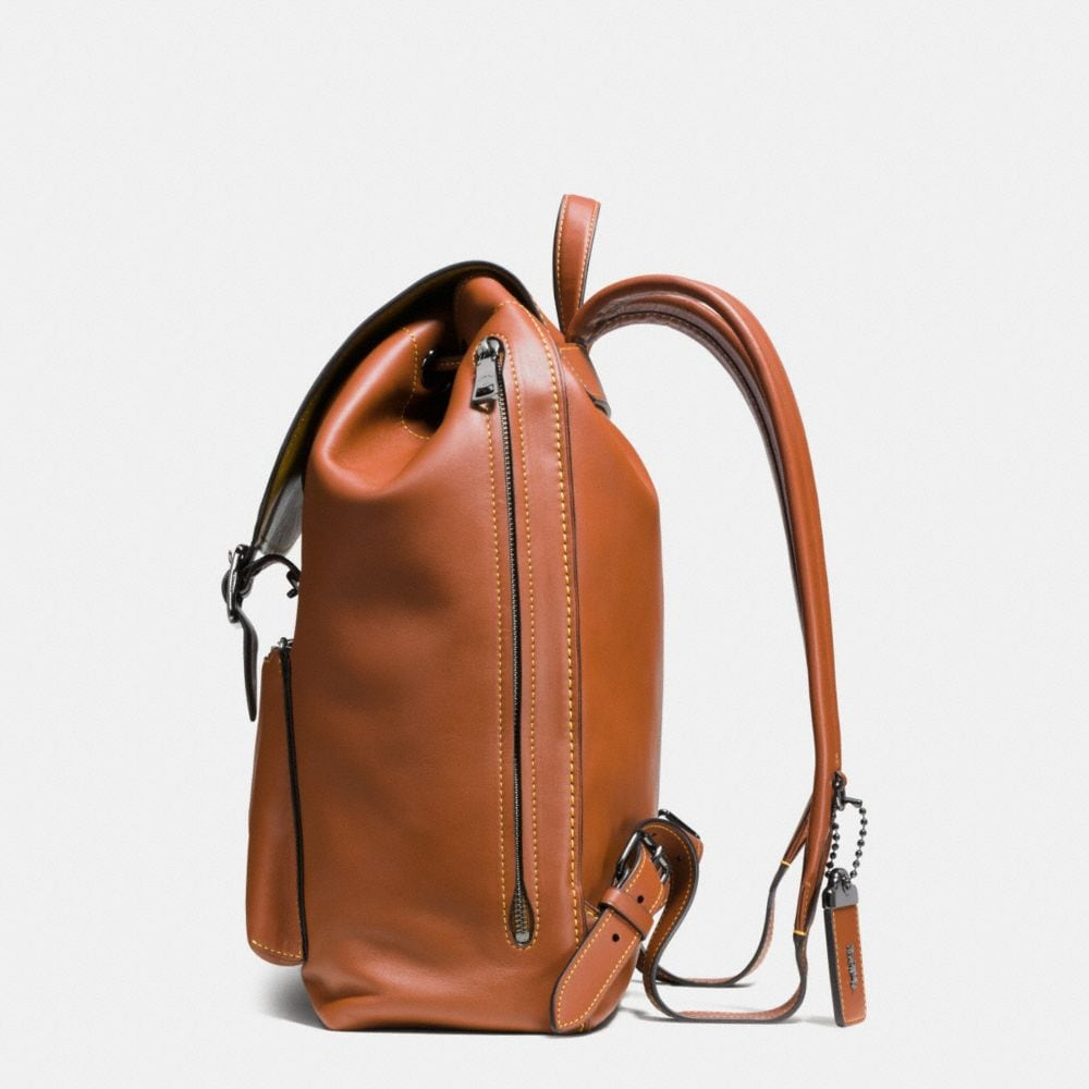 Coach Mickey Rainger Backpack in Glovetanned Leather Alternate View 1