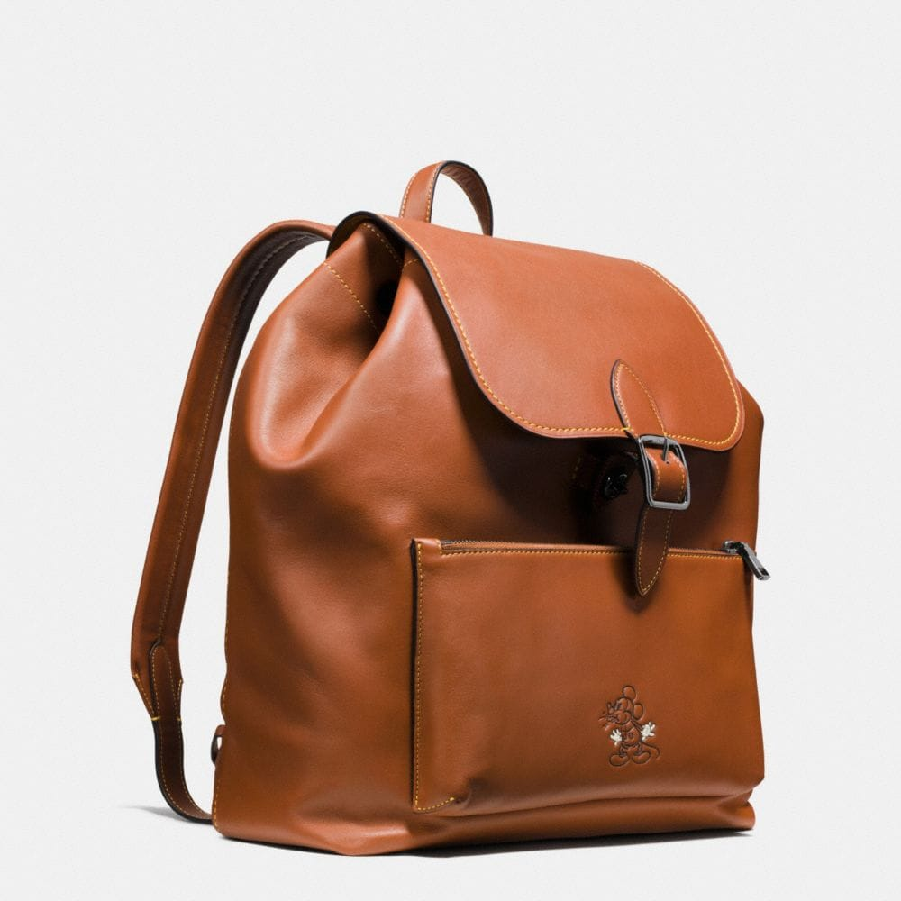 Coach Mickey Rainger Backpack in Glovetanned Leather Alternate View 2