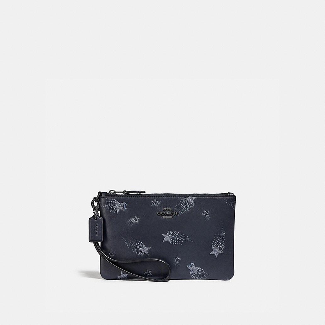 Small Wristlet With Star Print by Coach