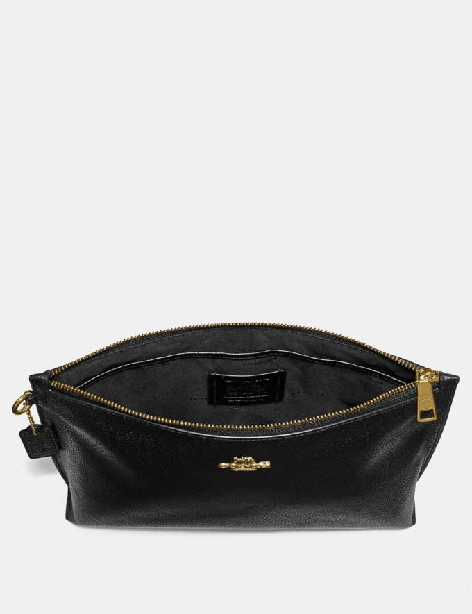 Coach Large Charlie Pouch Gold/Black Neu Neuheiten für Damen Kleine Lederaccessoires Alternative Ansicht 1