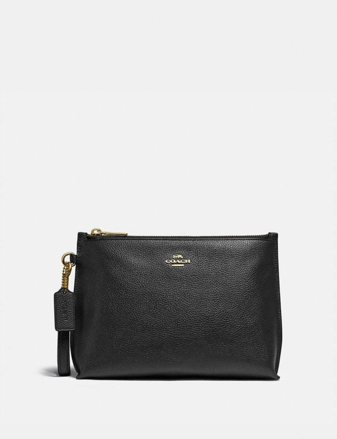 Coach Charlie Pouch Gold/Black New Women's New Arrivals Accessories