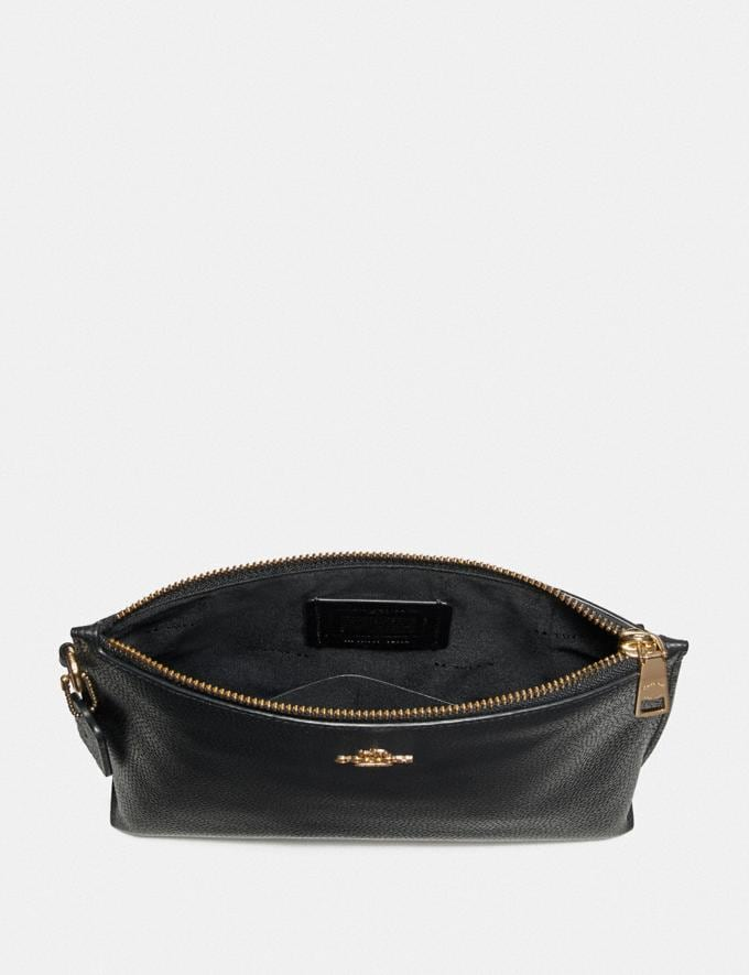 Coach Charlie Pouch Gold/Black Women Edits Work Alternate View 1