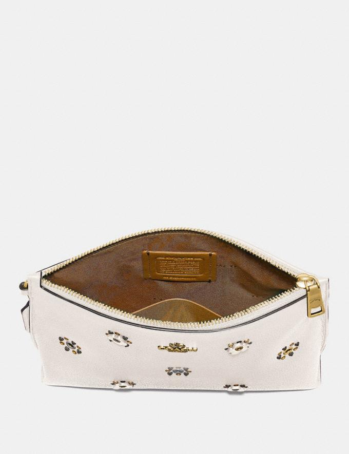 Coach Charlie Pouch With Scattered Rivets Pewter/Mist Women Bags Clutches Alternate View 1