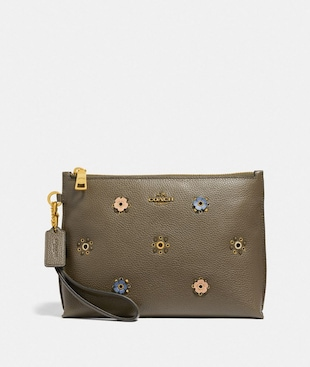CHARLIE POUCH WITH SCATTERED RIVETS