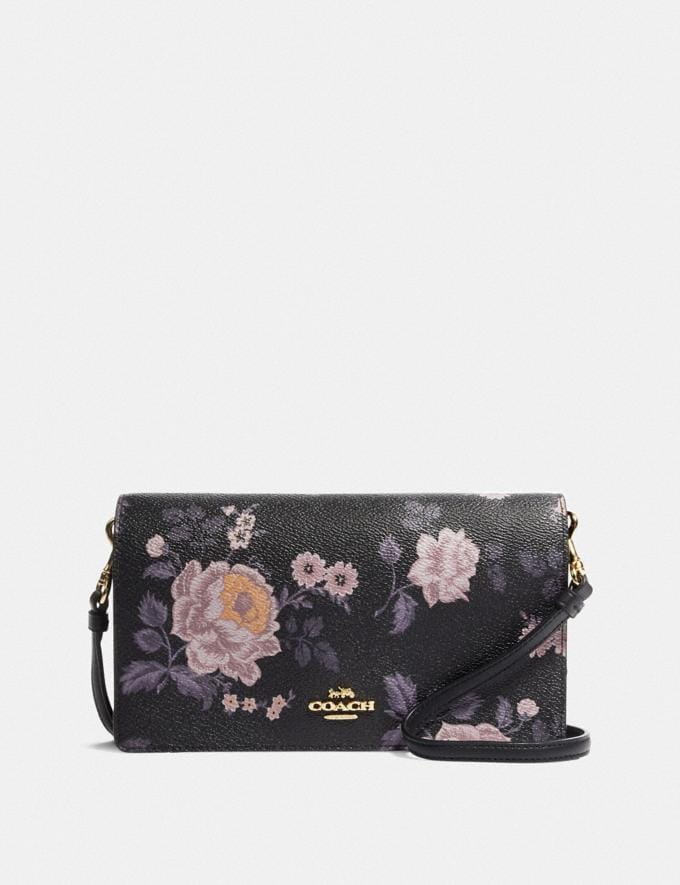 hottest sale official images a great variety of models Hayden Foldover Crossbody Clutch With Garden Rose Print