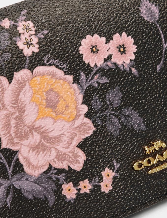 Coach Hayden Foldover Crossbody Clutch With Garden Rose Print Gold/Black Women Accessories Alternate View 4