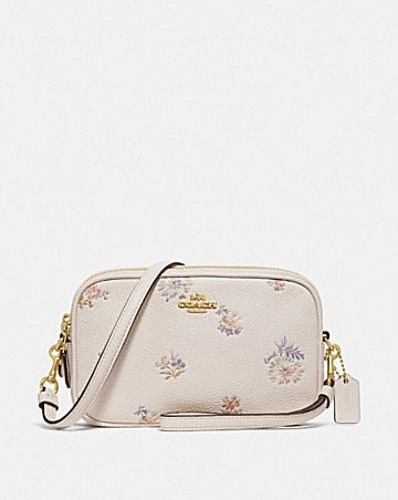 SADIE CROSSBODY CLUTCH WITH MEADOW PRAIRIE PRINT