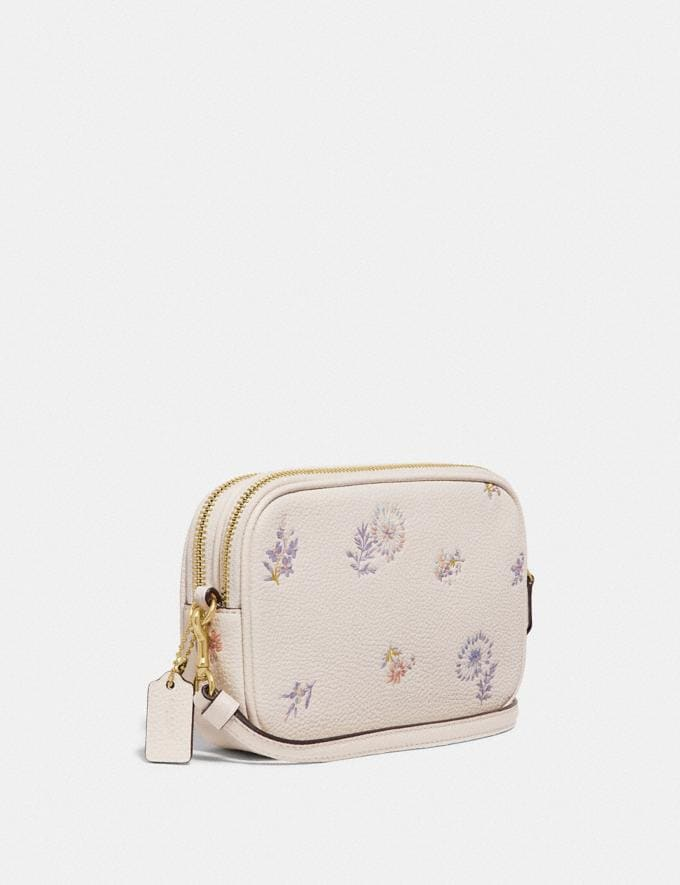 Coach Sadie Crossbody Clutch With Meadow Prairie Print Gold/Chalk Women Bags Crossbody Bags Alternate View 1