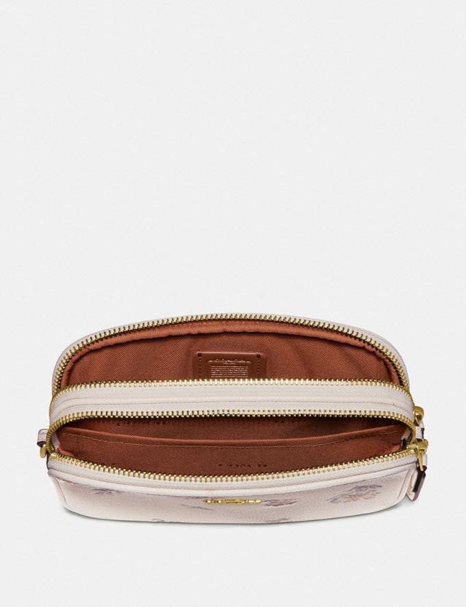 Coach Sadie Crossbody Clutch With Meadow Prairie Print Gold/Chalk Women Bags Crossbody Bags Alternate View 2