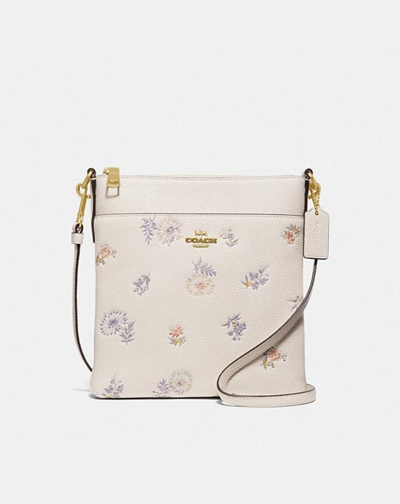 Coach KITT MESSENGER CROSSBODY WITH MEADOW PRAIRIE PRINT