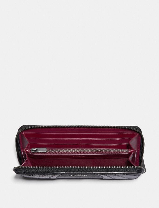 Coach Slim Accordion Zip Wallet in Signature Canvas With Wave Patchwork V5/Charcoal Multi PRIVATE SALE Shop by Price 40% Off Alternate View 1