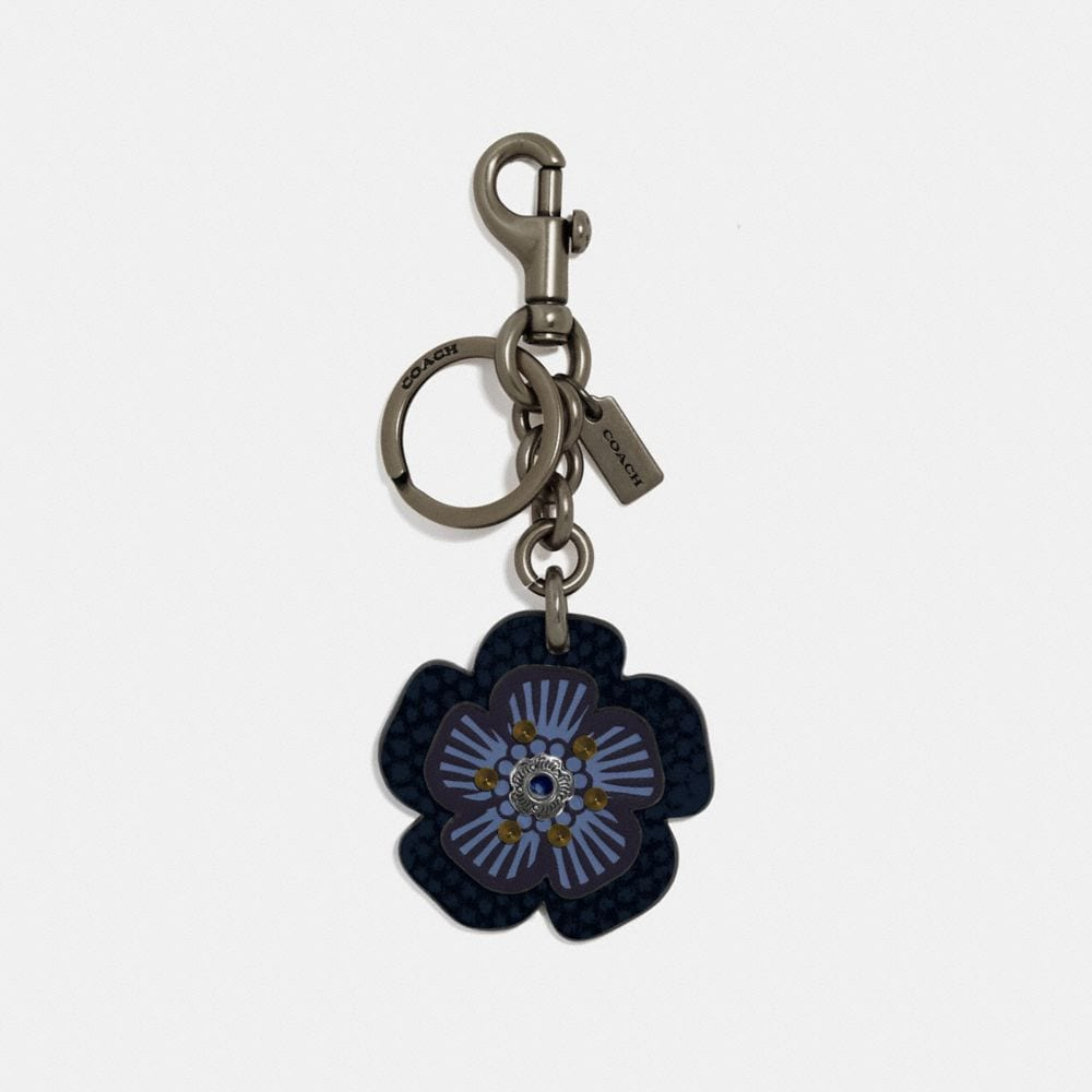 BIKER RIVET TEA ROSE BAG CHARM