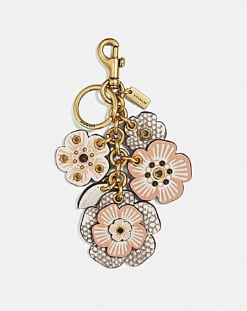 BIKER RIVET TEA ROSE MIX BAG CHARM