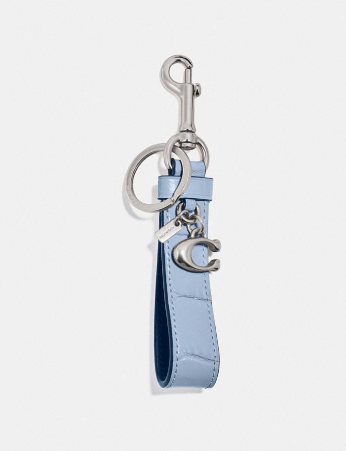 Coach Loop Bag Charm Silver/Mist Women Accessories Bag Charms & Key Rings