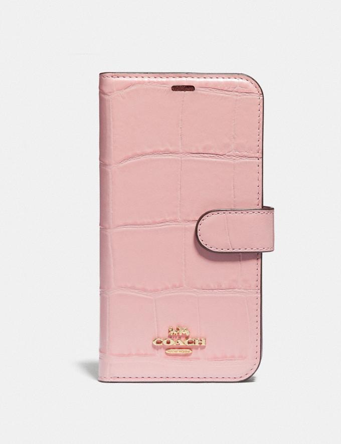 Coach iPhone X/Xs Folio Blossom Women Accessories Tech & Work
