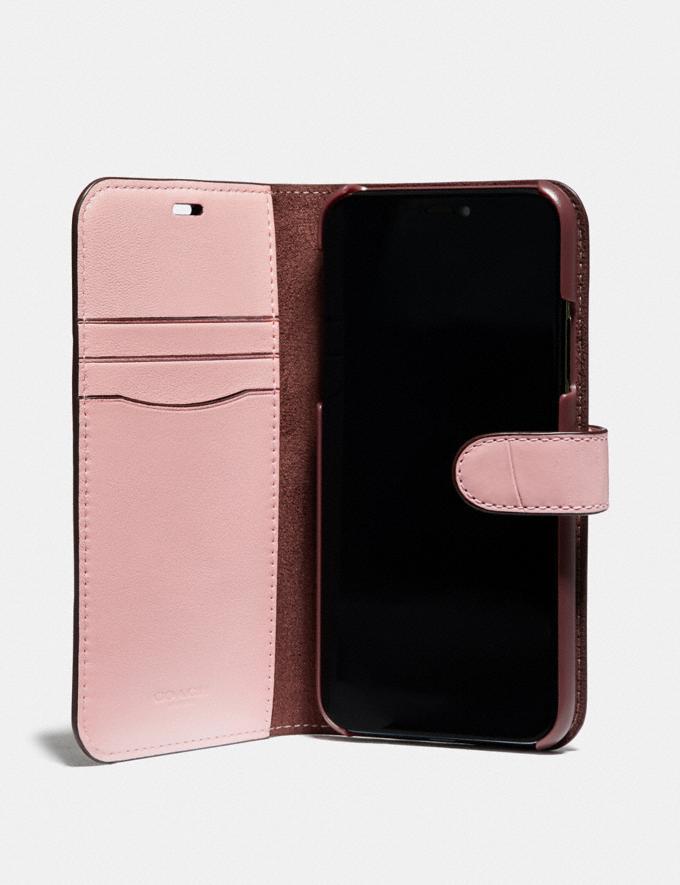 Coach iPhone X/Xs Folio Blossom Women Accessories Tech & Work Alternate View 1