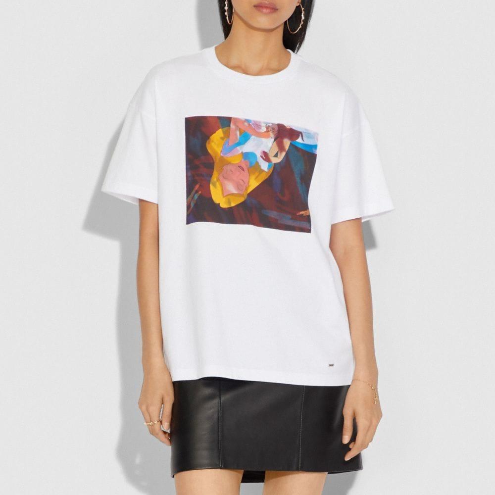 Coach Disney X Coach Alice Oversized T-Shirt Alternate View 1