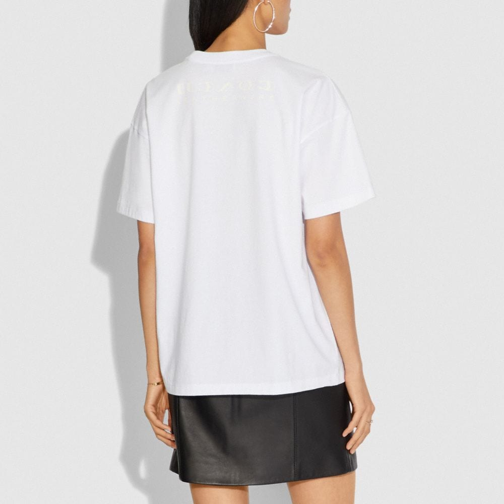 Coach Disney X Coach Alice Oversized T-Shirt Alternate View 2