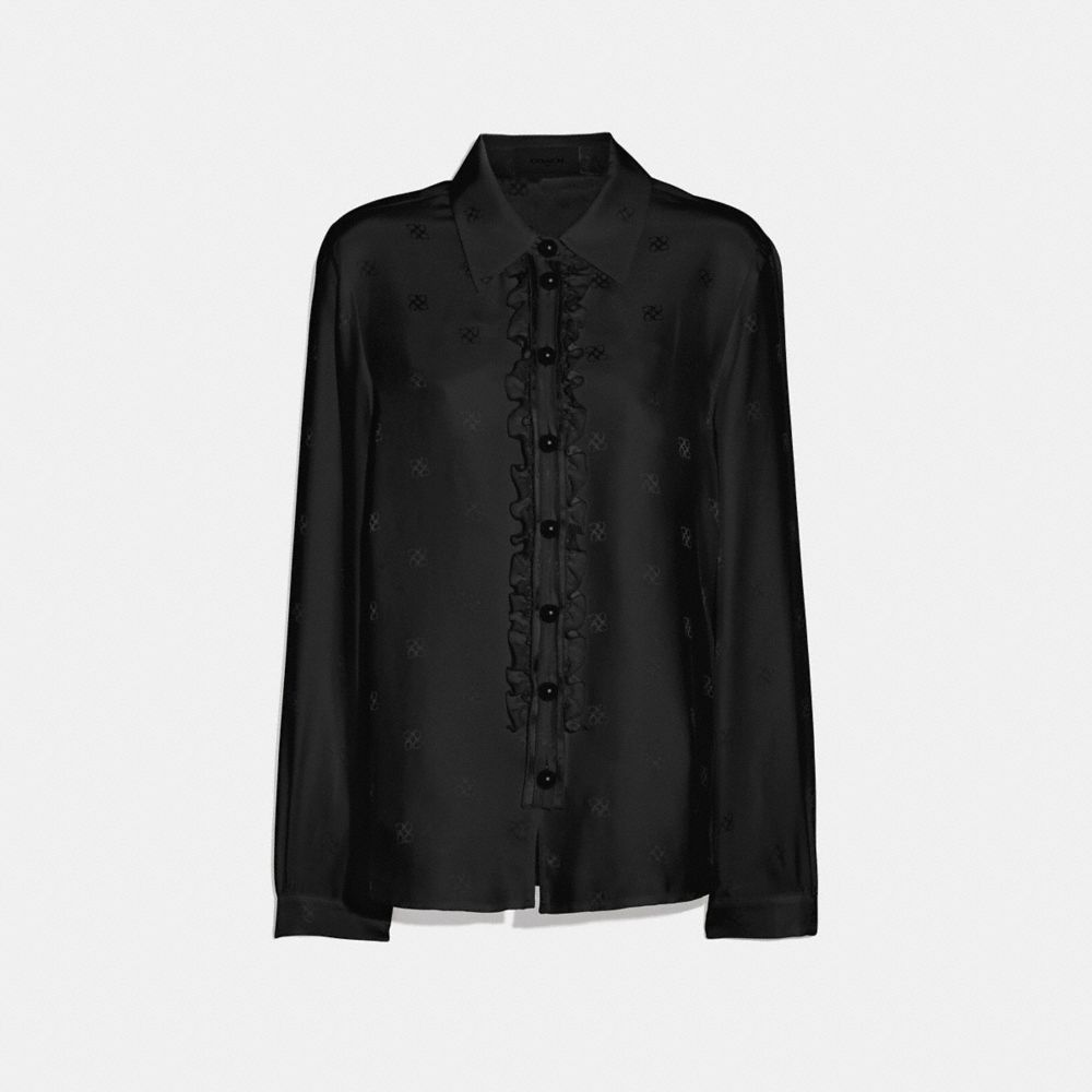signature square jacquard shirt