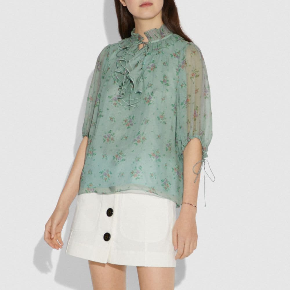 Coach Prairie Bouquet Print Top Alternate View 1