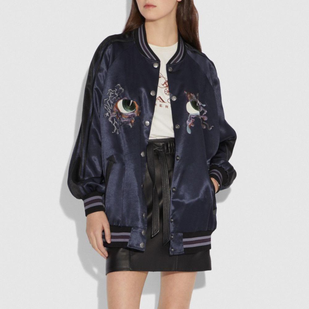 Coach Oversized Souvenir Varsity Jacket Alternate View 1
