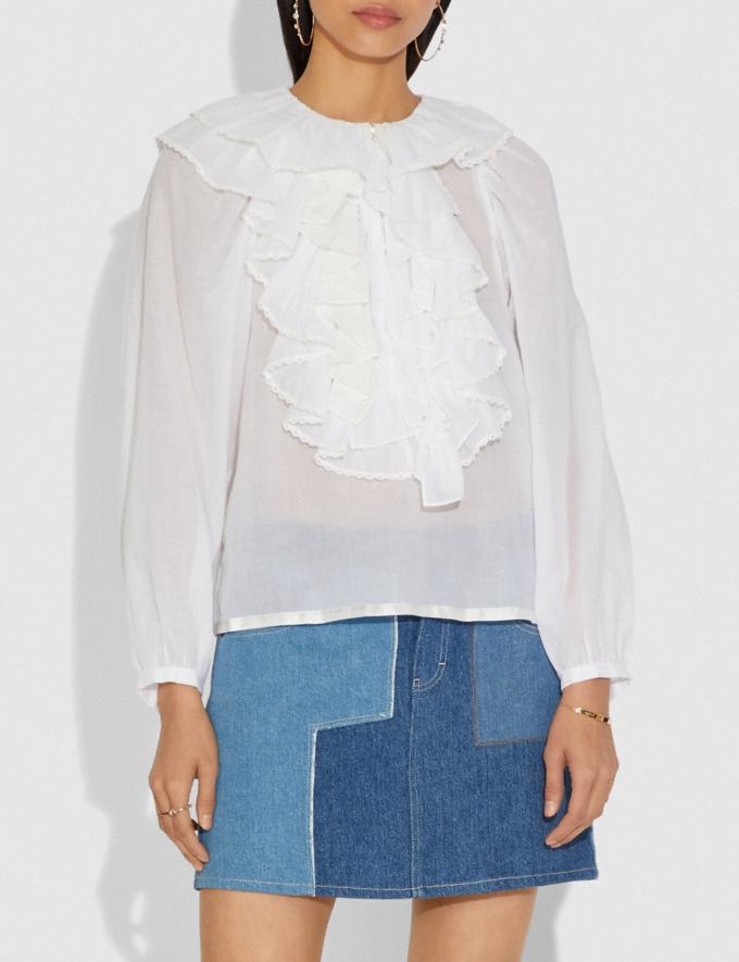 Coach Peasant Blouse White  Alternate View 1