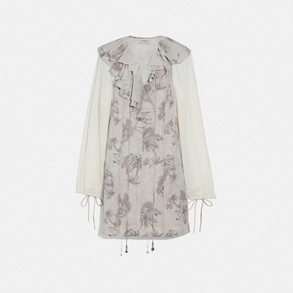 Coach Palm Tree Print Mini Dress
