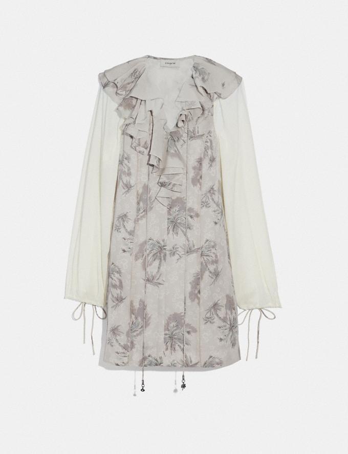 Coach Palm Tree Print Mini Dress Grey