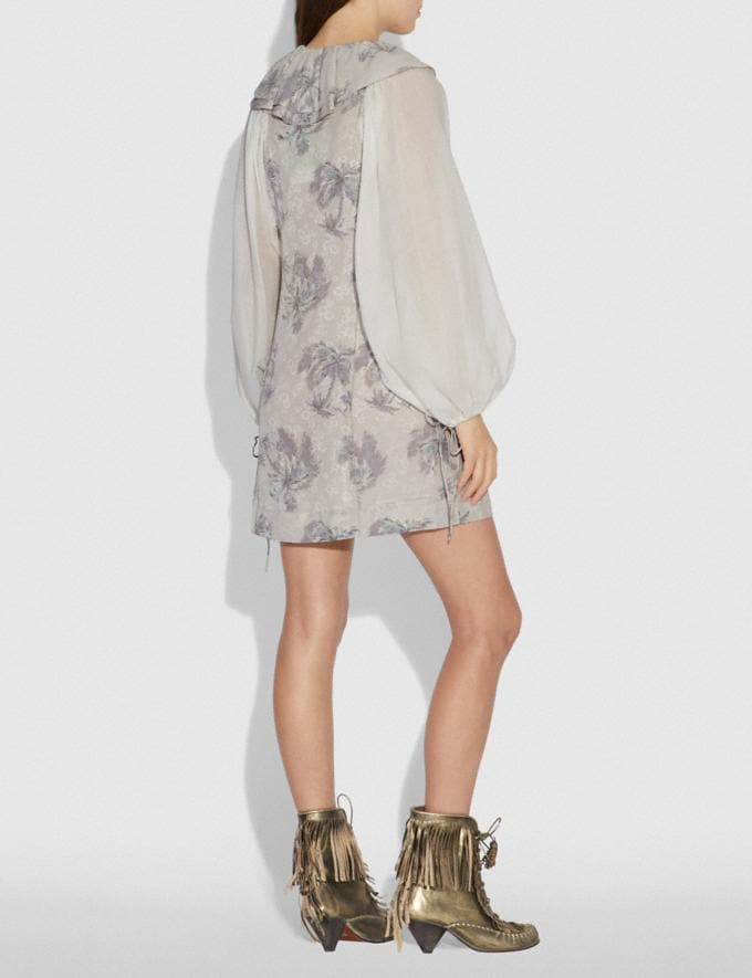 Coach Palm Tree Print Mini Dress Grey  Alternate View 2